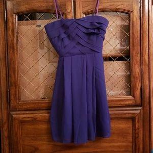 Trixxi purple strapless dress